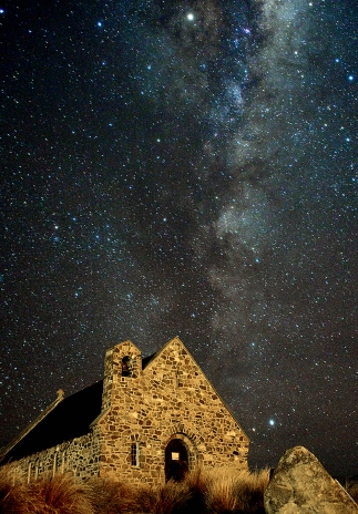 Church of the Good Shepherd and the Milky Way